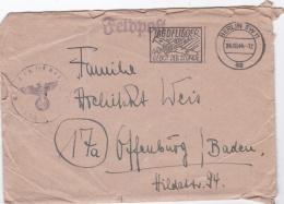 German Feldpost WW2: With Fine Postmark Berlin SW11 Jagdflieger Das Gebot Der Stunde From Reserve Lazarett 107 Berlin Po - Militaria