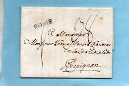 """Linéaire """"ROME"""",bureau Français,23X5mm,avec Corresp. Du 5/10/1791. - Poststempel (Briefe)"""