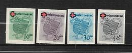 France Occupation Francaise Allemagne Wurtemberg N°38 A 41 Non Dentelés NSG  Cote 185€ - Zone Française