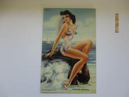 SEASHORE SENORITA , KURT TEICH ,   BEAUTIFUL WOMAN FEMME  , OLD POSTCARD , 0 - Pin-Ups