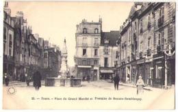 (37) 999, Tours, Grand Bazar 21, Place Du Grand Marché Et Fontaine De Beaune-Semblançay, Dos Non Divisé - Tours