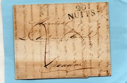 """Linaire """"20 NUITS"""",L.A.C. Du 7/11/18 Pour BEAUNE. - Marcophilie (Lettres)"""
