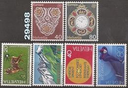 1976 - YT 1003 à 1004 - 1009 à 1012 ** - VC: 5.25 Eur. - Suisse