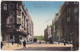 8810 Czech, Kral. Vinohrady Postcard Military Mailed 1917: Jungmannova Street, Animated - Czech Republic