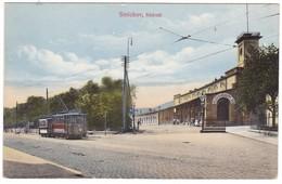 8811 Czech, Smichov Old Postcard Unused: Railway Station, Animated, Tram - Repubblica Ceca