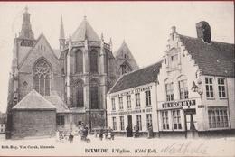 Dixmude Diksmuide L' Eglise Cote Est Kerk (in Zeer Goede Staat) Edit. Eug. Van Cuyck - Diksmuide
