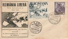 Enveloppe   ROUMANIE -  ESPAGNE      ROUMANIE   Libérée   1958 - Abarten Und Kuriositäten