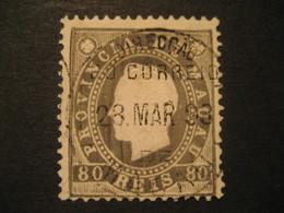 80 Reis MACAU 1888 Yvert 38 (cancel Perf. 12 1/2 Cat. Year 2008: 22 Eur) Stamp Macao Portugal China Area - Macao