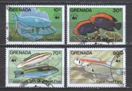 Grenada 1984 Mi 1299-1302 FISHES - W.W.F.
