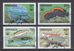 Grenada 1984 Mi 1299-1302 FISHES (SEE SCAN) - W.W.F.