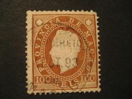 100 Reis MACAU 1888 Yvert 39 (cancel Perf. 12 1/2 Cat. Year 2008: 22 Eur) Stamp Macao Portugal China Area - Macao