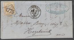 Nord:  G.C.1775 Sur N°59 + CàD HAZEBROUCK(57) Sur LAC De 1873 (origine GODEWAERSVELDE) - Marcophilie (Lettres)