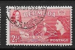 """BERMUDA   1953 Local Motives And Queen Elizabeth II   Sir George Somers And """"Sea Venture""""  USED - Bermuda"""