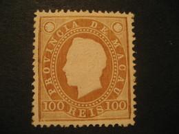 100 Reis MACAU 1888 Yvert 39 (Perf. 13 1/2 Cat. Year 2008: 45 Eur) Stamp Macao Portugal China Area - Macau