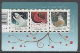 CANADA, 2017,MNH, CHRISTMAS, POLAR BEARS, BIRDS, REINDEER, SHEETLET - Christmas