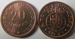 Sao Thome And Principe 20 Centavos 1971 UNC KM# 16 - Sao Tome Et Principe