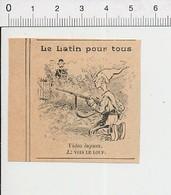 Presse 1902 Humour Video Lupum Je Vois Le Loup Gendarme Chapeau Bicorne Chasseur Braconnier ?? Fusil   51C26 - Old Paper