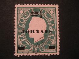 2 1/2 O.p. 10 Reis MACAU 1891/3 Yvert 42 (cancel Perf. 12 1/2 Cat. Year 2008: 7 Eur) Stamp Macao Portugal China Area - Macao