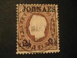 2 1/2 O.p. 40 Reis MACAU 1891/3 Yvert 43 (cancel Perf. 12 1/2 Cat. Year 2008: 3 Eur) Stamp Macao Portugal China Area - Macao