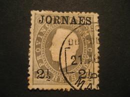 2 1/2 O.p. 80 Reis MACAU 1891/3 Yvert 44 (cancel Perf. 12 1/2 Cat. Year 2008: 6 Eur) Stamp Macao Portugal China Area - Macao
