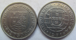 Sao Thome And Principe 20 Escudos 1971 XF KM# 24 - Sao Tome Et Principe