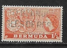 BERMUDA   1953 Local Motives And Queen Elizabeth II  USED - Bermuda