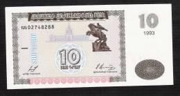 ARMENIE ARMENIA  P33    10  DRAM    1993    UNC. - Arménie