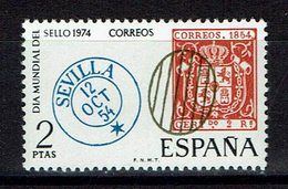 TIMBRE 1974 MNH JOURNÉE MONDIALE DU TIMBRE - SEVILLA - Sellos Sobre Sellos