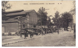 & 93 Aubervilliers Le Marché Cpa Animée écrite En 1918 - Aubervilliers