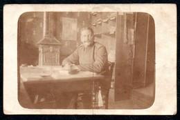 B7634 - Soldat Offizier ?? Uniform  Schreibstube Ofen Kanonenofen  - 1. WK WW Geschr. Metz An Karl Wagner Halbflottille - War 1914-18