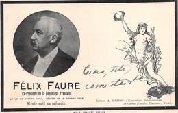 """0438 """"FELIX FAURE - PARIGI 1841/1899 - EX PRESIDENT DE LA REPUBLIQUE FRANCAISE"""" ESPOSIZIONE INT.LE NICE.  CART SPED 1900 - Hommes Politiques & Militaires"""