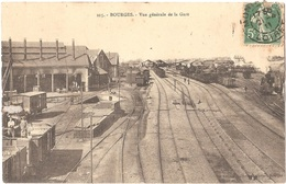 Dépt 18 - BOURGES - Vue Générale De La Gare - (train) - Bourges
