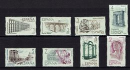 SERIE 8 TIMBRES 1973 MNH ROME HISPANIE ACUEDUCTOS ARCOS - Historia