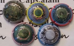 5 BELLES CAPSULES CHAMPAGNE GENERIQUE LES PETITES TERRES NEWS - Collections