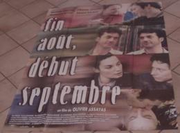 AFFICHE CINEMA ORIGINALE FILM FIN AOUT DEBUT SEPTEMBRE ASSAYAS AMALRIC CLUZET LEDOYEN BALIBAR 1998 TBE - Posters
