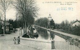 PARAY LE MONIAL - Canal Du Centre Route De Digoin Péniche Soldat écrit à Chateauroux Cachet Militaire - Paray Le Monial