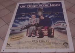 AFFICHE CINEMA ORIGINALE FILM UN TICKET POUR DEUX John HUGHES Steve MARTIN John CANDY 1987 TRAIN AUTO AVION - Posters