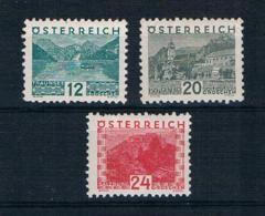 Österreich 1932 Landschaften Mi.Nr. 531/33/34 * Ungebraucht - 1918-1945 1ère République