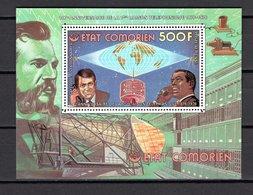 COMORES BLOC N° 5D  NEUF SANS CHARNIERE  COTE  6.75€  LIAISON TELEPHONIQUE  ESPACE - Isole Comore (1975-...)