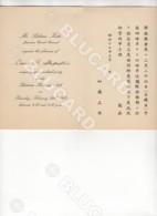 29614 CHINA 1942 INVITATION DIPLOMATIC CARD TO TIENTSIN KOKUSAI CLUB - Documenti Storici