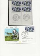 ROBERT ESNAULT - PELTERIE-N° YVERT 1526 BLOC DE 4 +4 FDC CACHETS ILLUSTRES CONCORDANTS - 1960-.... Covers & Documents