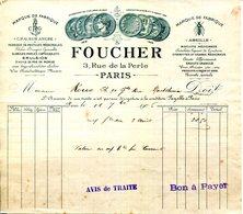 PARIS.FABRIQUE DE PASTILLES MEDICINALES.EMULSION D'HUILE DE FOIE DE MORUE.FOUCHER 3 RUE PERLE. - Chemist's (drugstore) & Perfumery