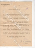 29636 CHINA 1934 2 INTERESTING LETTERS FROM CATHOLIC MISSION KICHOW AUTOGRAPH BISHOP RAFFAELE CAZZANELLI TO HANKOW - Documenti Storici