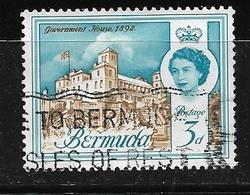 BERMUDA    1962 Definitive Issue  QUEEN ELIZABETH II 174 USED  GOVERMENT HOUSE - Bermuda