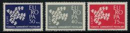 Europa-CEPT // Turquie // 1961 Timbres Neufs** - Europa-CEPT
