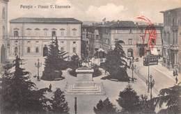 """0446 """"PERUGIA - PIAZZA V. EMANUELE""""  ANIMATA, TRAMWAY, BOLLO ESPRESSO CENT 0,25, TIMBRO ESPRESSO 01100.  CART  SPED 1916 - Perugia"""