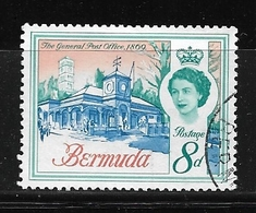 BERMUDA    1962 Definitive Issue  QUEEN ELIZABETH II  USED   The General Post Office 1869 - Bermuda