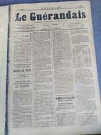 JOURNAL LE GUERANDAIS N°291 A 394 RELIE ANNEE 1897 A 1898  GUERANDE ET SA PRESQU ILE - Newspapers