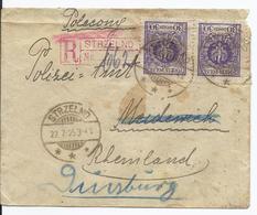 Polen (001298) Einschreiben Strezelno Gelaufen Nach Duisburg Am 22.7.1925 Rückseitig ANK - 1919-1939 Republic