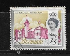 BERMUDA    1962 Definitive Issue  QUEEN ELIZABETH II  Used The City Hall Hamilton 1960 NICE CANCEL - Bermuda